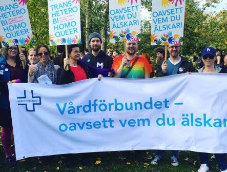 Bild från Prideparaden i Umeå 2016