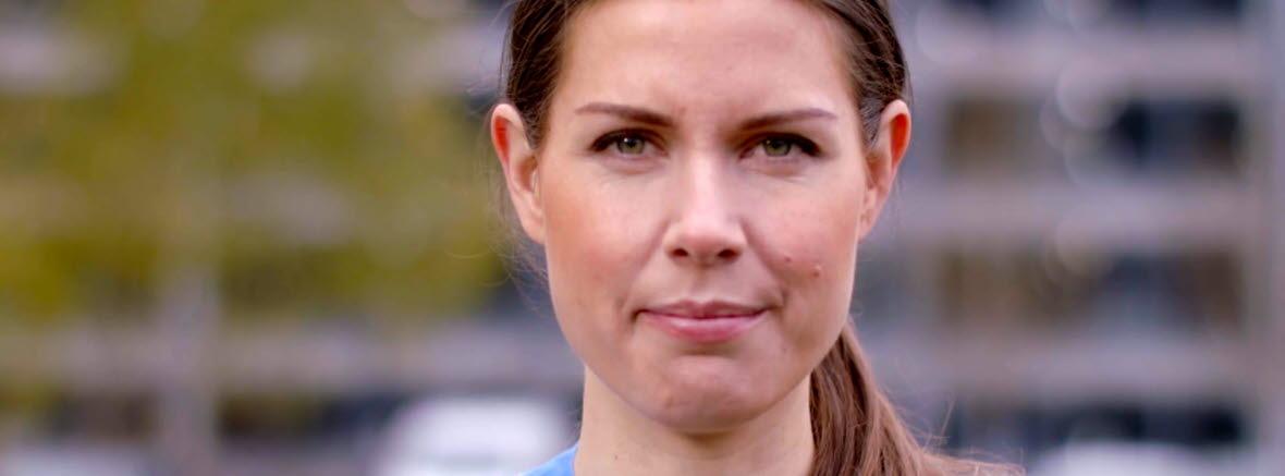 Sofia Lindström, sjuksköterska med specialisering inom intensivvård