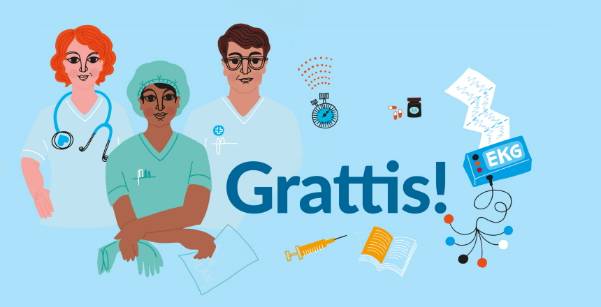 Illustration för internationella yrkesdagen för sjuksköterskor den 12 maj