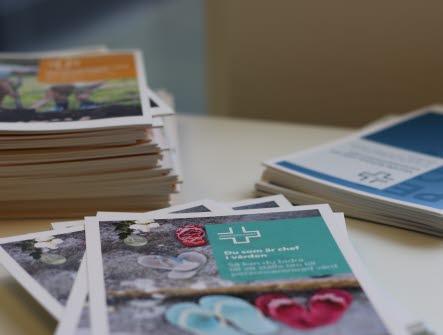 Bild på några av vårdförbundets trycksaker
