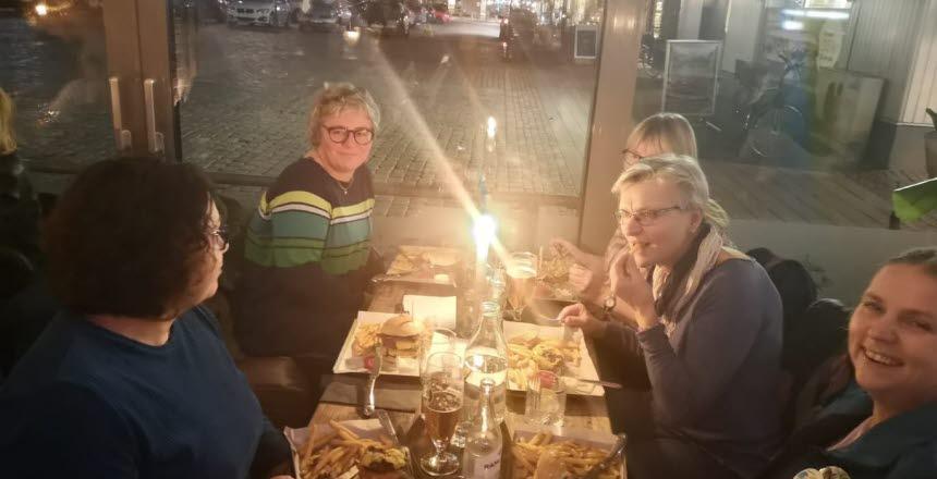 Palliativa Konsultteamet från Halmstads sjukhus, möte på The Bull's Pub i Halmstad