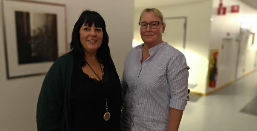 Medlemsmöte på avdelning 2 B-C Hallands sjukhus Varberg medlemsmöte. Två nya förtroendevalda, Eva Grimbeck och Marika Magnusson