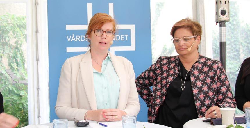 Politikern Anna Starbrink från Liberalerna svara på frågor