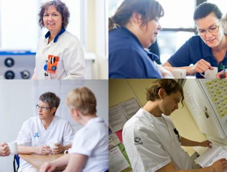 Fyra yrkesgrupper i Vårdförbundet