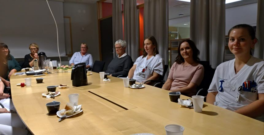 Avdelning 2 B-C Hallands sjukhus Varberg medlemsmöte. Två nya förtroendevalda, Eva Grimbeck och Marika Magnusson