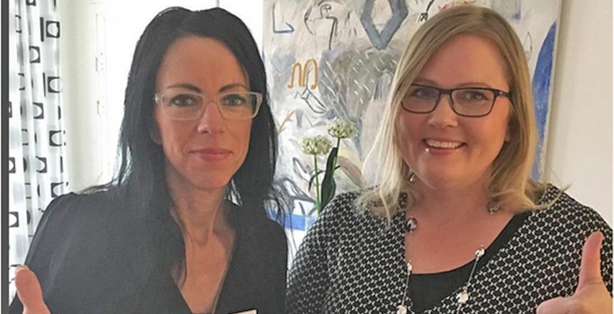 Foto på Jenny Olsson, ordförande och Helena Forss Johansson