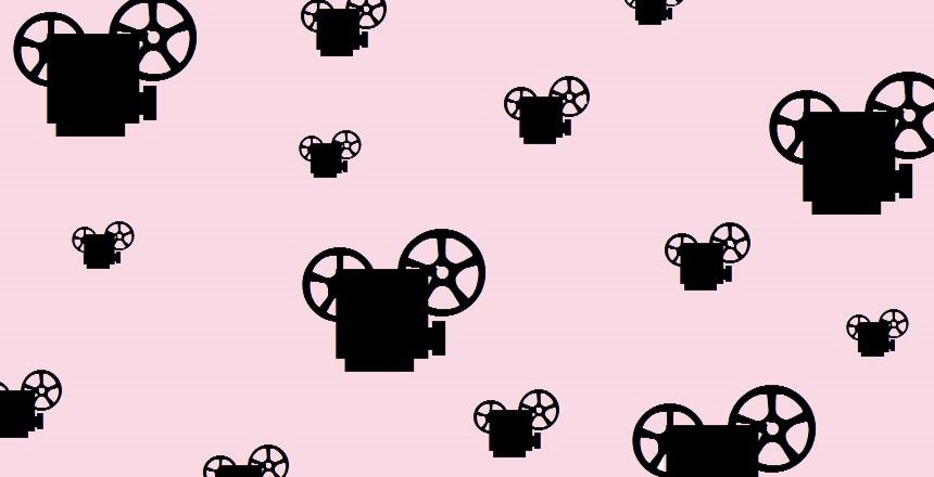 Bioprojektor. Bioprojektorer mot rosa bakgrund.