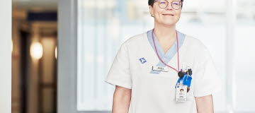 Jessica Enström som studerat till specialistsjuksköterska inom onkologi.