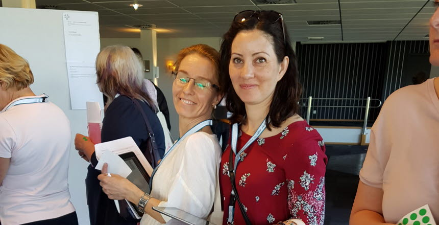 Nadya och Karin deltar i påverkanstorg på kongressen
