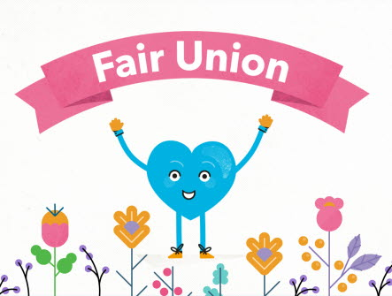 Fair union, fair trade-blommor