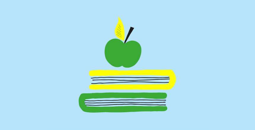 Ett äpple på två böcker