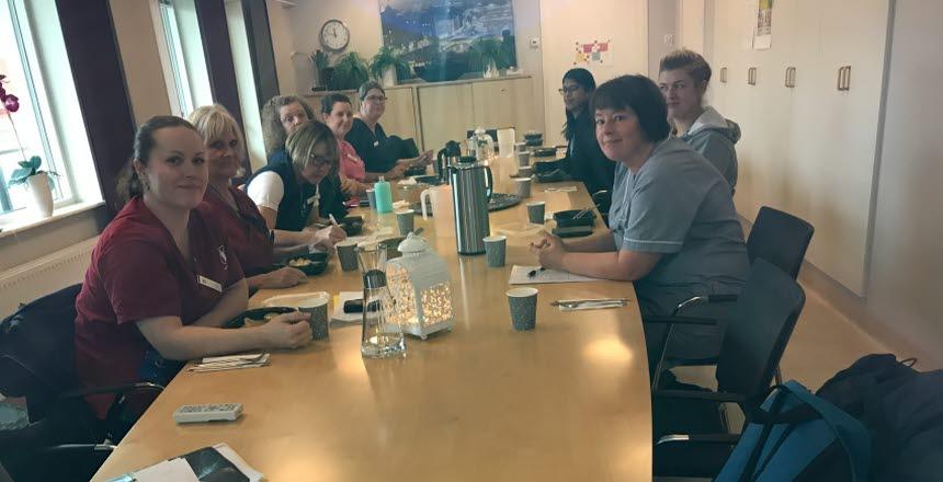 Lunchmöte i Fjärås för medlemmar inom Vård och Omsorg i Kungsbacka