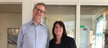 Margot Kamruddin och Mikeal Apelqvist, Vårdförbundet avdelning Halland
