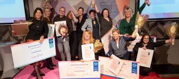 2019 års pristagare med stora prischeckar