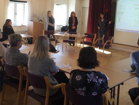 Skyddsombudens dag i Ängelholm där man diskuterar ämnet Personcentrerad vård